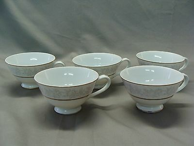 5 Vintage Queen Brocade Fine China Coffee Cups, Made In Japan
