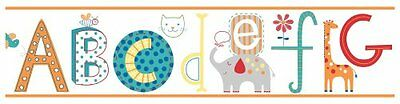 York Wallcoverings Peek-A-Boo Alphabet Animal Border