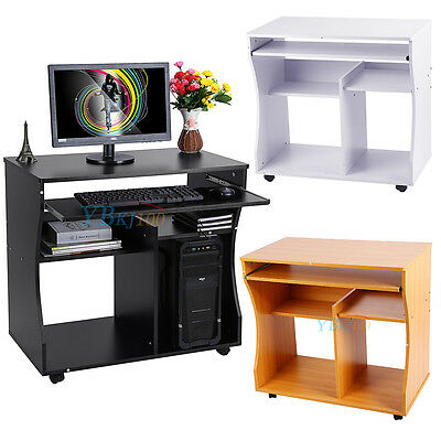 Morden Computer Desk Study Workstation Laptop Table with Keyboard Shelf Mid Sale