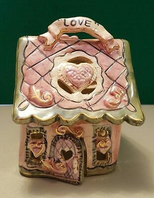 "Blue Sky Clayworks Heather Goldminc Christmas Collection ""LOVE"" House 2002 NEW"