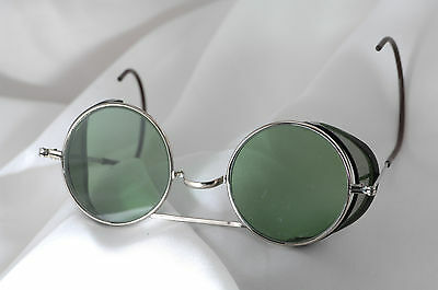 antique safety glasses, sunglasses, steam punk, harley, motorcycle,welding