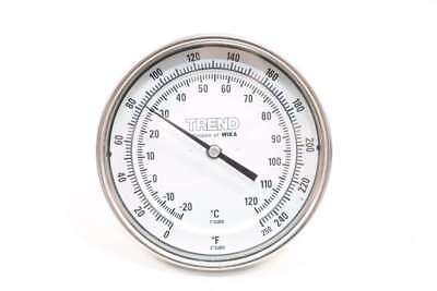 Wika Thermometer 0-250F 1/2 In Npt Temperature Gauge D567394