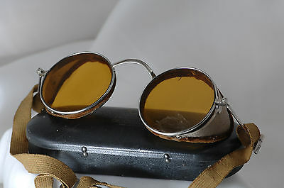 antique safety glasses, sunglasses, steam punk, harley, motorcycle, Willson