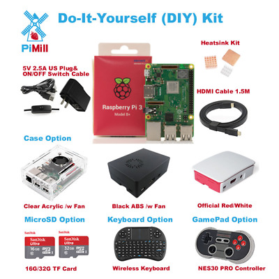 2018 Raspberry Pi 3 Model B+ B plus Do-It-Yourself (DIY) Kit US Seller