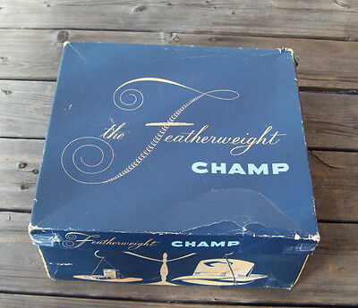 """Vintage CHAMP HAT BOX ~Featherweight~ $7.50 """" Weight Of 2 Packs Of Cigarettes"""""""