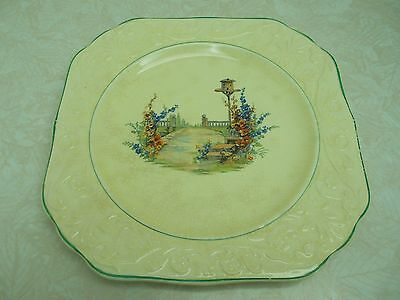 """Beauitful Vintage Edwin Knowles 9 1/2"""" Square Luncheon / Dinner Plate Gl167"""