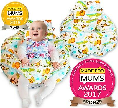 Award winning Made for Mums unique 4 in 1 Baby Nursing Pillow - 100% cotton
