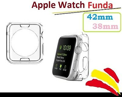 Funda Apple Watch Transparente Gel Silicona TPU Carcasa Protector 38mm 42mm