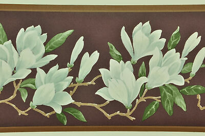 1Roll Wallpaper Border DW30122B Flowers Yellow Green White Prepasted DX47//10