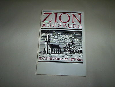 Zion Zugsburg 110th Anniversary 1874-1984 Book Lutheran Church in Augsburg