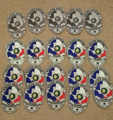 Lot  of 20 Texas police chest patches