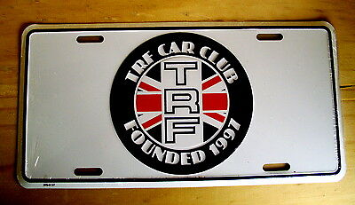Trf British Sports Car Club-Founded 1991-Embossed Metal License Plate/sign-New