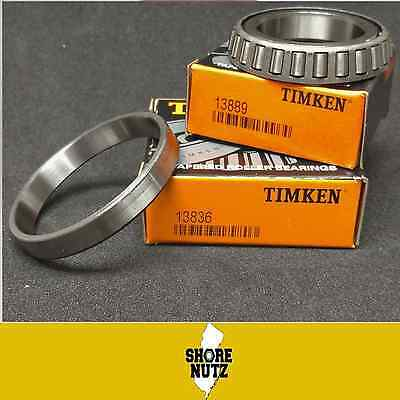 (2-SETS) Timken (2) 13836  /  (2) 13889  Tapered Roller Bearing Cup and Cone