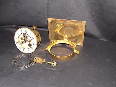 French Four Glass Visible Escapement Movement & Dial