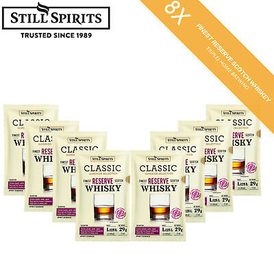 Free Shipping 8 x Still Spirits Classic Finest Reserve Scotch Whiskey Home Brew