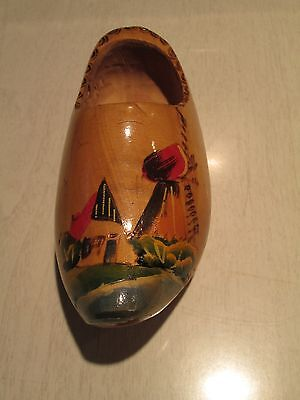 Wooden Shoe - Holland - Hand Painted - Ready to display