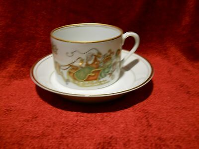 Fitz and Floyd saint St Nicholas cup and saucer