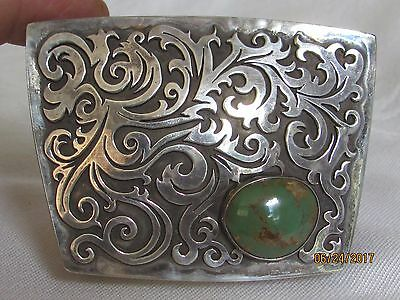 VINTAGE hand made STERLING SILVER with Turquoise box
