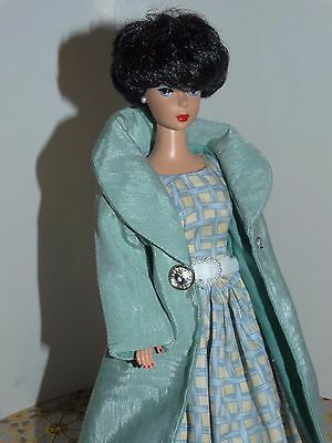 Blue & Yellow  Dress & Coat Doll for  Repro barbie, ooak,handmade new