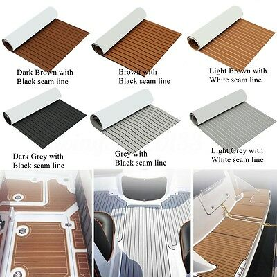 "94"" x35"" Marine Boat Flooring EVA Foam Yacht Teak Decking Sheet Carpet Floor Pad"