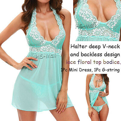 Hot Women Sexy-Lingerie Nightwear Underwear G-string Babydoll Sleepwear Dress XL