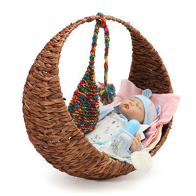 Creative Moon Handmade Woven Baskets Studio Photography Props Newborn Baby Photo