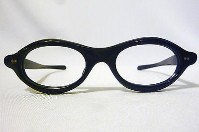 Vintage Frame France 2 Star Shield Thick Oval Eyeglass Frame New/Old Stock