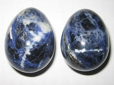Awesome *sodalite* Crystal Carved Egg / 4.2Cms / Reiki Healing - A1++ Grade