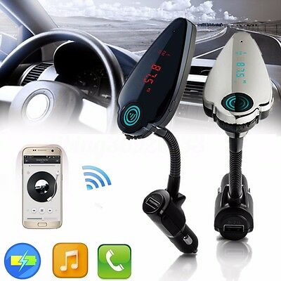 LCD Bluetooth Auto MP3 Player FM Transmitter Kit Mic USB Charger TF Handsfree