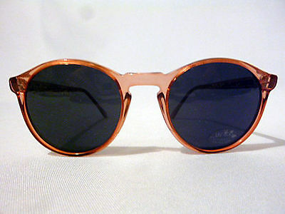 Vintage Unisex P3 Round Sunglasses in Pink 55-24 UV Eyeglass Frame New/Old Stock