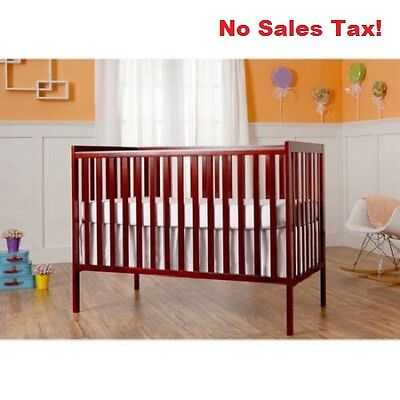Baby Convertible Crib 5 in 1 Toddler Bed Nursery Furniture Kids Daybed Full New