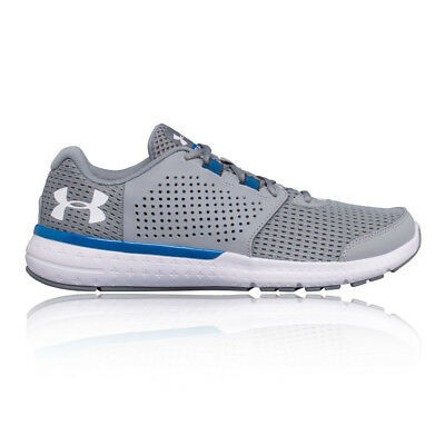 Under Armour Micro G Mens Grey Cushioned Running Sports Shoes Trainers