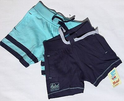 2 pack Baby Boy Shorts in 2 Tone Blue Colour.