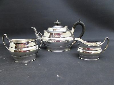 Antique Alpha Plate Harrison Brothers & Howson 3 Piece Silver Plated Tea Set