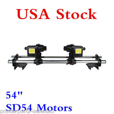 """USA -54"""" Automatic Media Take up Reel SD54 Two Motors for Mutoh /Mimaki /ROLAND"""