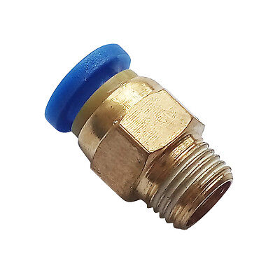 """6 mm OD * 1/8"""" BSPT Push Fitting  Air Pneumatic Male Straight Connector"""