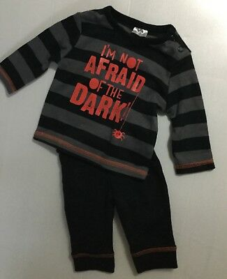 Baby Boy Pyjamas with Halloween detail and I am not afraid of the dark