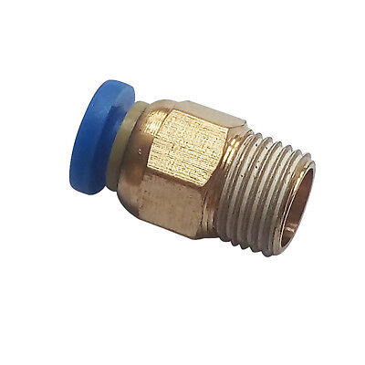 """6 mm OD * 1/4"""" BSPT Push Fitting  Air Pneumatic Male Straight Connector"""