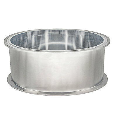 "HFS 12"" X 4"" Deep Sanitary Tri Clamp Splatter Platter X- Stainless Steel"