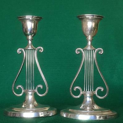 Beautiful pair of lyre candlesticks by Harrison Brothers & Howson circa 1880