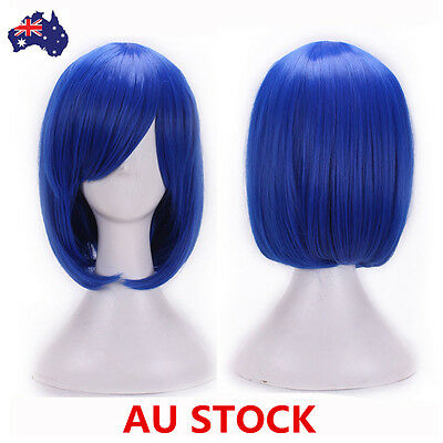 Cosplay Bob Women Girls Short Straight Wig 32cm Hiar Costume Party Wig+Wig Cap