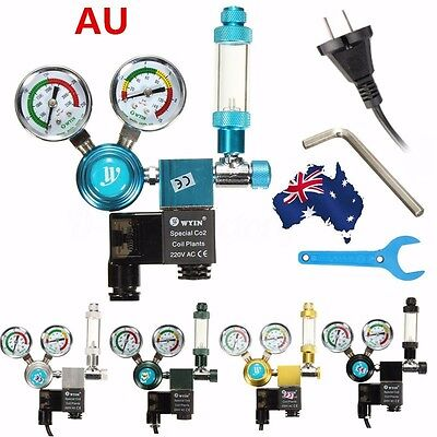 Aquarium planted CO2 Pressure Regulator Magnetic Valve Solenoid Bubble Counter A