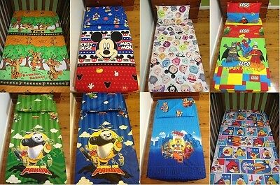 New Tigger, Mickey, Kungfu Panda, Lego, Tsum Tsum Cot fitted sheet + pillowcase