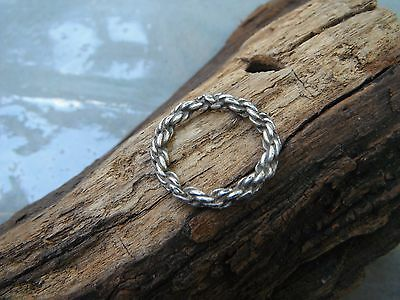 THE Vikings  Ancient  Scandinavian twisted silver ring 1000 /AD RARE