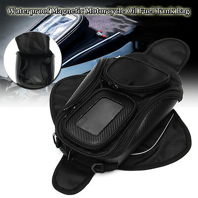 Waterproof Magnetic Motorcycle Motorbike Oil Fuel Tank Bag Pouch For Phone/GPS