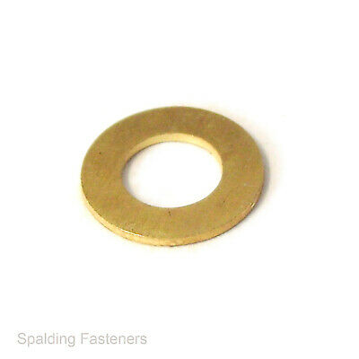 Assorted M4, M5, M6, M8 & M10 Metric Brass Flat Washers - Refill Pack
