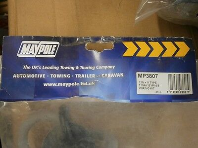 **NEW** Maypole MP3807 12N + S Type 7 Way Bypass Wiring Dual Socket Towing