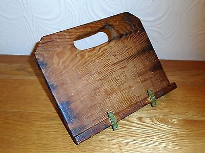 Lovely Vintage Handmade Sturdy Wooden Book Stand / Rest. Jonathan Cruse & Gass