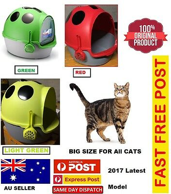 New Latest Cat Pet Toilet Litter Box Portable Hooded Handle House Scoop Carrier