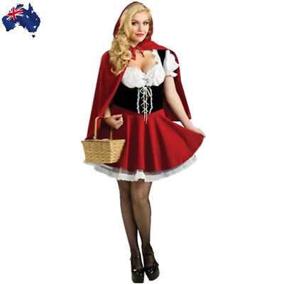 Plus Size Adult  Women Red Riding Hood Costume Halloween Cosplay Fancy Dress